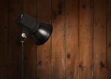 Spot light on wall Stock Photography