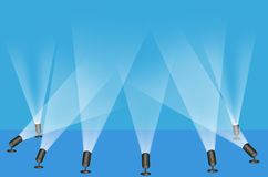 Spot lights. Illustration of spot lights used on a stage play vector illustration
