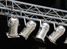 Spot lights. Fragments of stage illumination (Zurich Open Air 2008 Royalty Free Stock Photography