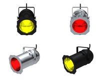 Spot lights. 3D rendering spot lights on white background Royalty Free Stock Images