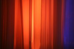 Spot Lights Against Stage Curtain Royalty Free Stock Photo