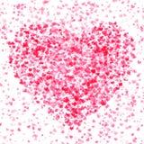 Spot of many hearts Royalty Free Stock Photos