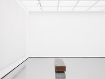 Spot omhoog van binnenland met wit canvas 3d geef terug Royalty-vrije Stock Foto