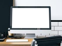 Spot omhoog van generische ontwerpcomputer het 3d teruggeven Royalty-vrije Stock Foto's