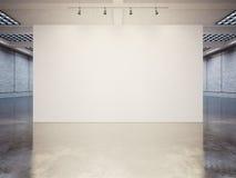 Spot omhoog van leeg canvas met witte bakstenen 3d Stock Afbeelding