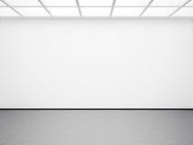 Spot omhoog van leeg wit binnenland 3d geef terug Stock Foto