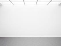 Spot omhoog van open plek witte galerij 3d geef terug Stock Afbeeldingen