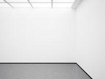 Spot omhoog van witte galerij 3d geef terug Royalty-vrije Stock Fotografie