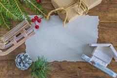Spot omhoog voor Kerstmis en de nieuwe kaart van de jaargroet Royalty-vrije Stock Afbeeldingen