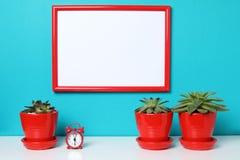 Spot op affiche in het binnenland Stock Foto's