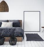 Spot op affiche in slaapkamer binnenlandse, etnische stijl vector illustratie