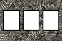 Spot op van de achtergrond de muur moderne stijl de tekeningengrafiek van het affichekader en Stock Foto