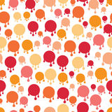 Spot paint drop. Pattern composition of the many spots. The color palette is warm, pink and yellow. Background white Stock Images