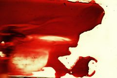 Spot of red blood on white Stock Photo