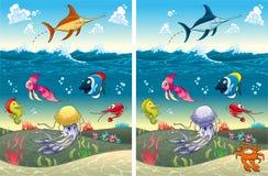 Spot skillnaderna Fotografering för Bildbyråer