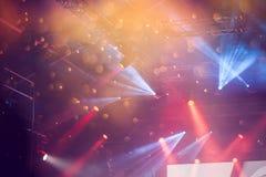 Spot Stage lights Stock Photo