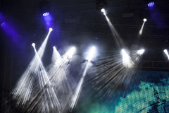 Spot Stage lights at concert Stock Photo