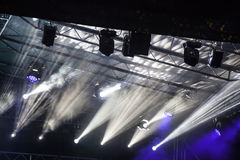 Spot Stage lights at concert royalty free stock image