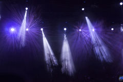 Spot Stage lights at concert. Colorful spot stage lights in the night stock image