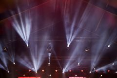 Spot Stage lights. Colorful abstract magic stage lights royalty free stock photography