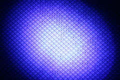 Spot Wafer. Radial blue lighted wafer with inking spots royalty free stock image