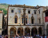 The spot where rainwater was collected. Photo of the frontage of Sponza Palace - Dubrovnik - Croatia - July 2010 Stock Photography