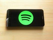 Spotify App stock fotografie