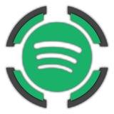 Spotify button stock illustration