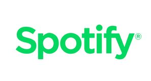 Spotify icon printed on paper. Spotify music streaming service icon on paper royalty free illustration