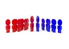 spotkań biznesowi target152_0_ ludzie royalty ilustracja