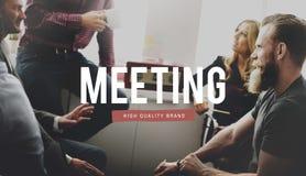 Spotkania Brainstorming dyskusi szczytu Konferencyjny pojęcie Obrazy Royalty Free