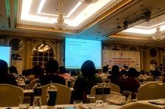 Spotkania dla personelu w organizacj Małych konferencjach w smal Zdjęcie Royalty Free