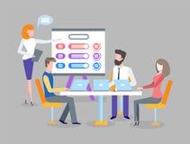 Spotkania i planu biznesowego dyskusja, praca zespołowa ilustracji