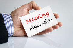 Spotkanie agendy teksta pojęcie zdjęcia stock