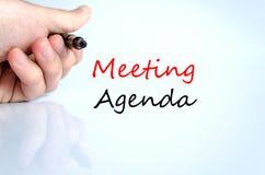 Spotkanie agendy teksta pojęcie Obrazy Stock