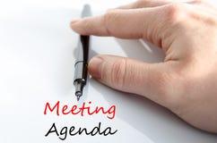 Spotkanie agendy teksta pojęcie Fotografia Royalty Free