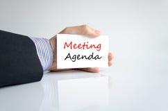 Spotkanie agendy teksta pojęcie Fotografia Stock