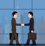 Spotkanie biznesmeni wniosek transakcja ilustracja wektor