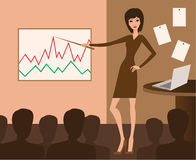 spotkanie biznesowa prezentacja royalty ilustracja