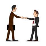 Spotkanie dwa biznesmenów colourful karykatura royalty ilustracja