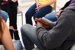 Spotkanie grupa pomocy, kopii przestrzeń zdjęcie stock