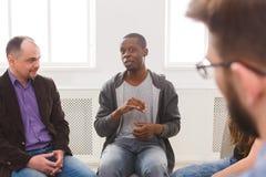 Spotkanie grupa pomocy, terapii sesja obrazy royalty free