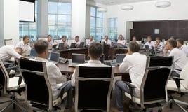 Spotkanie i dyskusi odprawa Biznesowy spotkanie, konferencja Zdjęcia Stock