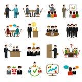 Spotkanie ikony ustawiać royalty ilustracja