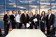 Spotkanie kierownicy wyższego szczebla w centrum biznesu Zdjęcia Stock