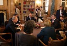 Spotkanie na ASEM szczycie Europejscy i Azjatyccy lidery Zdjęcia Stock