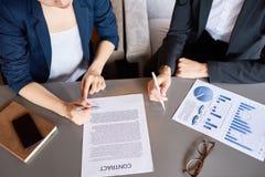 Spotkanie na Biznesowym partnerstwie zdjęcia stock