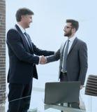 Spotkanie partnery biznesowi w biurze zdjęcie royalty free