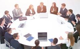 Spotkanie partnery biznesowi w sala konferencyjnej fotografia stock