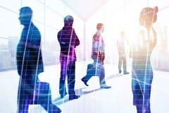 Spotkanie, praca zespołowa, zapas i finanse pojęcie, Obraz Royalty Free